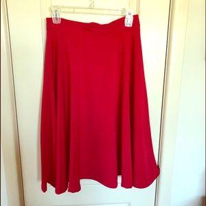 ModCloth Seung Skirt - red, medium